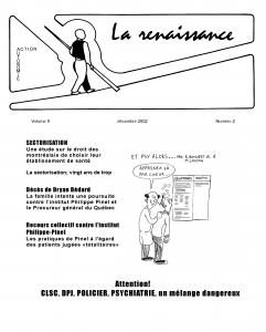 La Renaissance - décembre 2002 - volume 9 numéro 2.