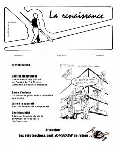 La Renaissance - Avril 2003 - volume 10 numéro 1.