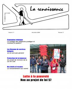 La Renaissance - Décembre 2004 - volume 11 numéro 3.