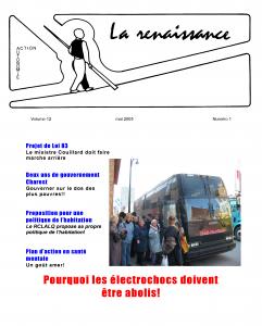 La Renaissance - Mai 2005 - volume 12 numéro 1.