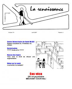 La Renaissance - Avril 2007 - volume 14 numéro 1.