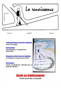 La Renaissance - Juillet 2007 - volume 14 numéro 2.