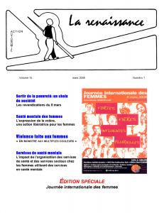 La Renaissance - Mars 2008 - volume 15 numéro 1.
