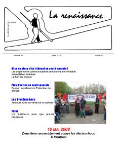 La Renaissance - Juillet 2008 - volume 15 numéro 2.