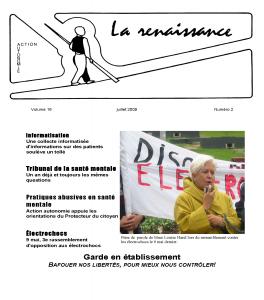 La Renaissance - Juillet 2009 - volume 16 numéro 2.