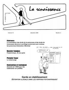 La Renaissance - Décembre 2009 - volume 16 numéro 3.