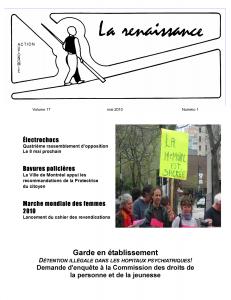 La Renaissance - Mai 2010 - volume 17 numéro 1.