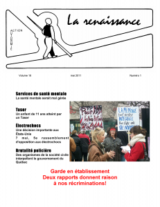 La Renaissance - Mai 2011 - Volume 18 numéro 1.