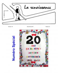 La Renaissance - Décembre 2011 - Volume 18 numéro 2.