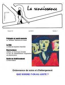 La Renaissance - Avril 2012 - Volume 19 numéro 1.